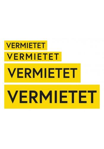 Aufkleber Gelb-Schwarz VERMIETET