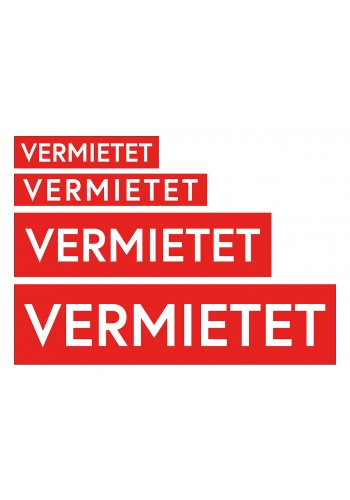 Aufkleber Rot-Weiß VERMIETET