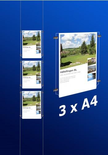 Fensterdisplays 3 x A4
