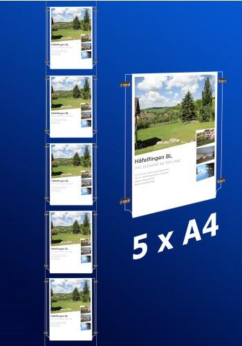 Fensterdisplays 5 x A4
