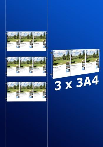 Fensterdisplays 3 x 3A4