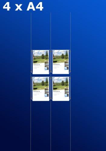 Fensterdisplays 4 x A4 - D