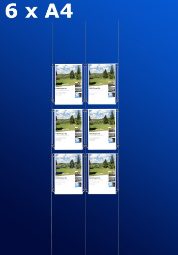 Fensterdisplays 6 x A4 - D