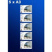 Fensterdisplays 5 x A3