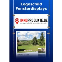 Fensterdisplay Logoschild